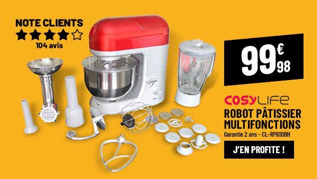 Robot pâtissier COSYLIFE CL-RP800BH