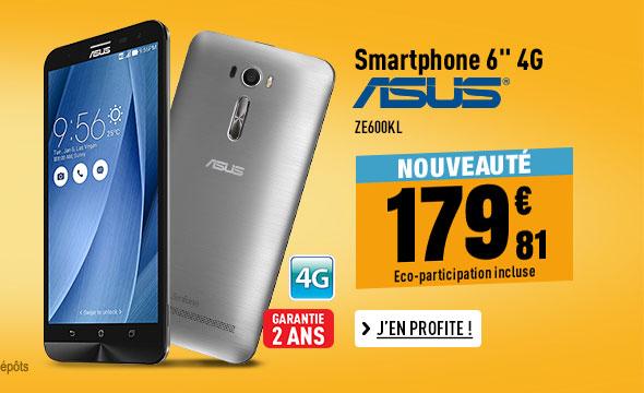 Mobile ASUS ZENFONE2 LASER ZE600KL 4G silver