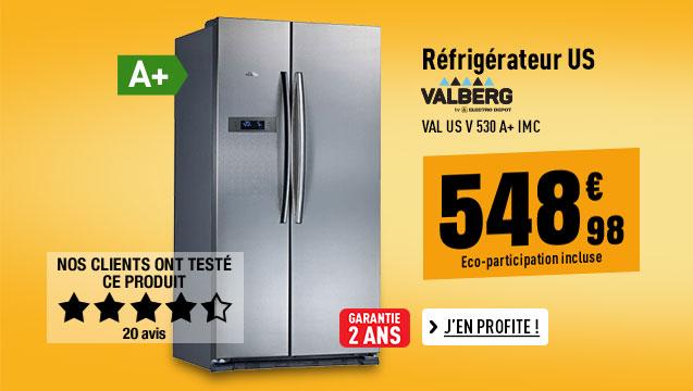 Réfrigérateur VALBERG VAL US V 530 A+ IMC