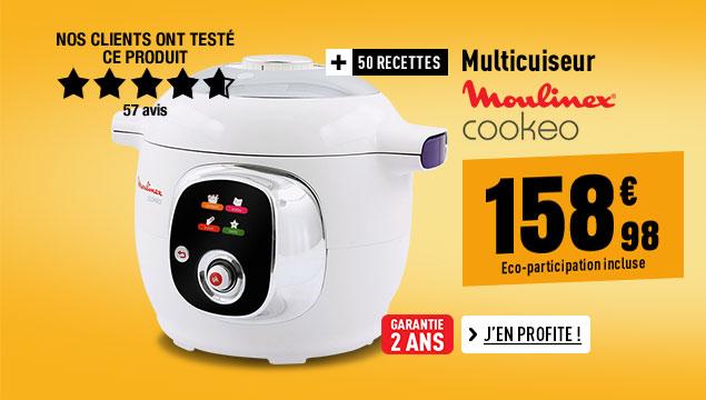 Cuiseur MOULINEX CE701010 COOKEO 50 recettes